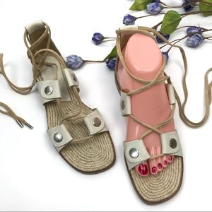 Rag & Bone City Leather Lace Up Gladiator Sandals
